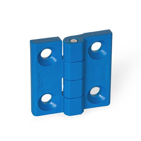 GN 237.1 Scharniere, detektierbar, FDA-konformer Kunststoff Form: A - 2x2 Bohrungen für Senkschrauben Werkstoff / Oberfläche: VDB - visuell detektierbar