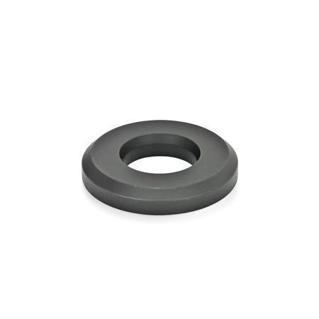 GN 6339 Rondelles à usage intensif, de type haut Finition: BT - noirci