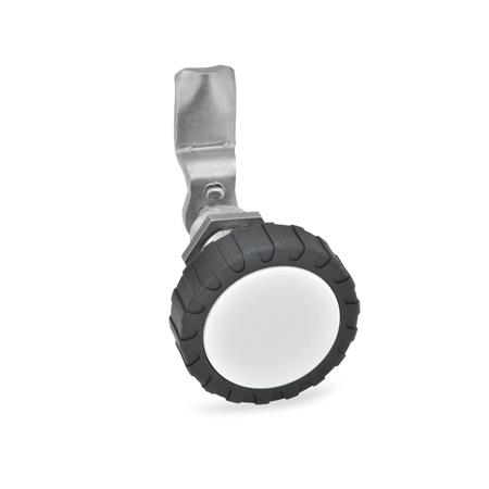 GN 516.5 Dreh-Spannriegel, Edelstahl Form: RG - Betätigung mit Rändelgriff GN 7336