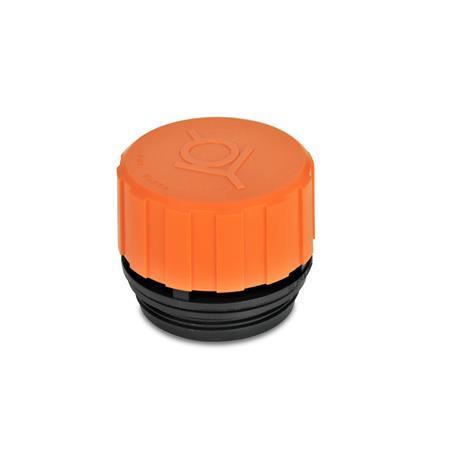 GN 774 Tapones de ventilación con filtro y válvula doble Form: A - sin varilla de nivel