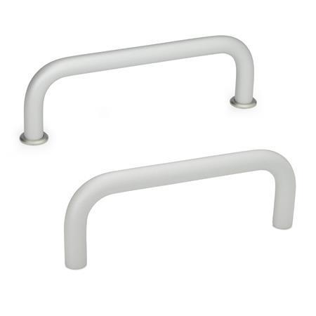 GN 425 Cabinet U-handles, Aluminum Material: AL - Aluminum Finish: EL - anodized, natural color