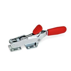 GN 850.2 Toggle Clamps, with Safety Hook, for Pulling Action Type: T - With draw axle, with catch