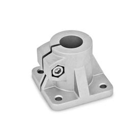 GN 163 Base plate connector clamps, Aluminum Finish: BL - blank, tumbled