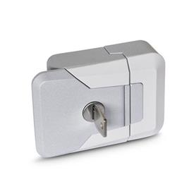 GN 936 Slam Latches, with and without Lock Type: SCL - Lockable (same lock)<br />Color: SR - Silver, RAL 9006, textured finish