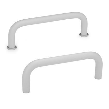 GN 425 Cabinet U-handles, Aluminum Material: AL - Aluminum Finish: SR - silver, RAL 9006, textured finish