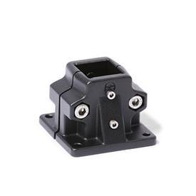 GN 165.1 Fuß-Verfahrschlitten für Lineareinheiten, Aluminium Bildvarianten: V - Vierkant