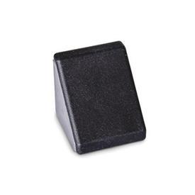 GN 960 Winkel für Profilsysteme 30 / 40 / 45, Aluminium Form: B - mit Montageset, mit Abdeckkappe<br />Oberfläche: MT - matt, gleitgeschliffen