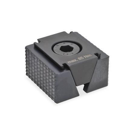 GN 920.1 Crampons plaqueurs doubles, acier Type: RF - surfaces de serrage à rainures