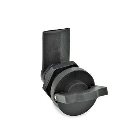 GN 115.3 Verriegelungen, Kunststoff Form: UB - Betätigung mit umlegbarem Griff