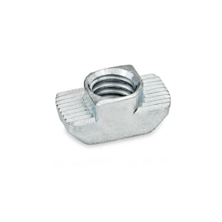 GN 505 T-Nuts for T-Slots Type: OB - without increased torque