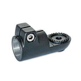 GN 276 Laschen-Klemmverbinder, Aluminium Form: AV - mit Außenverzahnung<br />Oberfläche: SW - schwarz, RAL 9005, strukturmatt