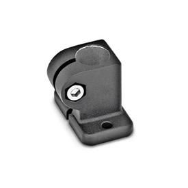 GN 162.3 Base Plate Connector Clamps, Aluminum Finish: SW - Black, RAL 9005, textured finish