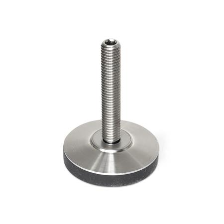 GN 6311.6 Stainless Steel-Levelling feet Type: KR - with plastic cap, non-gliding