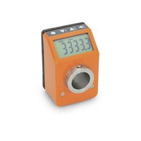 GN 9053 Asennonilmaisimet, elektroniset, LCD-näytöllä (digitaalinen ilmaisin), 6-numeroinen Väri: OR - oranssi, RAL 2004