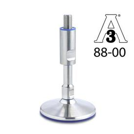 GN 20 Stainless Steel-Levelling feet without mounting holes, Hygienic Design