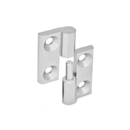 GN 337 Stainless Steel-Hinges detachable Material: NI - Stainless Steel Identification no.: 1 - fixed bearing (pin) right