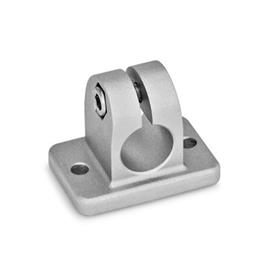 GN 145 Flanged connector clamps, Aluminum Finish: BL - blank, tumbled