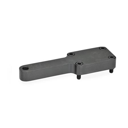GN 869.1 Static holders for power clamps Type: E - for one clamping bolt