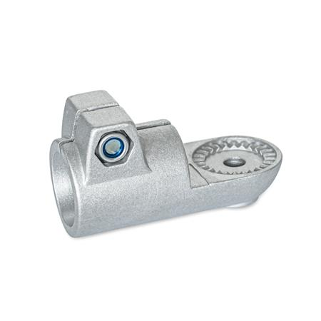 GN 276 Swivel clamp connectors, Aluminum Type: IV - with female serration Finish: BL - blank, tumbled