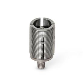GN 355.2 Stainless Steel Leveling Elements, with captive spherical washer