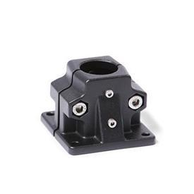 GN 165.1 Fuß-Verfahrschlitten für Lineareinheiten, Aluminium Bildvarianten: B - Bohrung