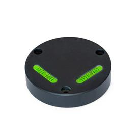 GN 2276 Right-angle spirit levels, for mounting with screws Sensitivity: 6 - Angle minutes, bubble move by 2 mm<br />Type: AV - aligned, mounting from the front side (not adjustable)<br />Material / Finish: ALS - anodized black