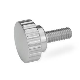 GN 535 Stainless Steel-Knurled screws Finish: PL - highly polished