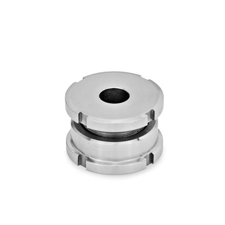GN 350.1 Stainless Steel Leveling Sets, Short Version Material: NI - Stainless steel Type: A - Without lock nut