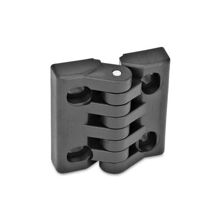 GN 151.4 Hinges with slotted holes Type: HB - vertical and/or horizontal adjustable