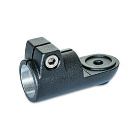 GN 276 Laschen-Klemmverbinder, Aluminium Form: MZ - mit Zentrieransatz<br />Oberfläche: SW - schwarz, RAL 9005, strukturmatt
