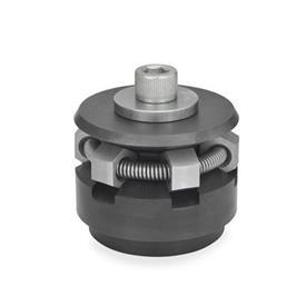 GN 411.2 Zentrierspanner, Stahl Form: S - mit Spannsegmenten