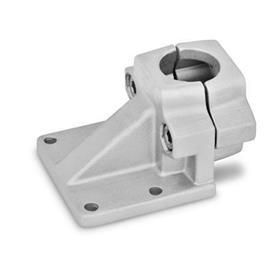 GN 166 Pieds pour tube déportés, aluminium d<sub>1</sub> / s: B - Alésage<br />Finition: BL - blanc, finition grenaillée mate