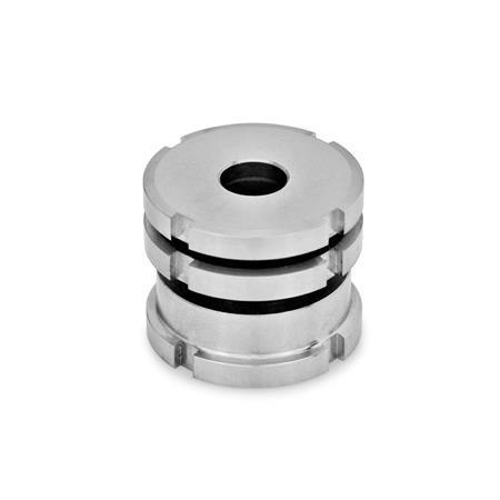 GN 350.1 Edelstahl-Ausgleich-Elemente, niedrige Ausführung Werkstoff: NI - Edelstahl Form: AK - mit Kontermutter