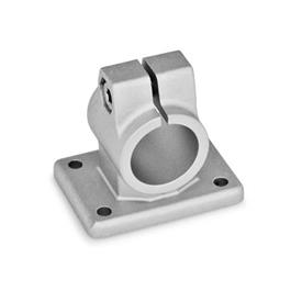 GN 146 Flanged connector clamps, Aluminum Finish: BL - blank, tumbled