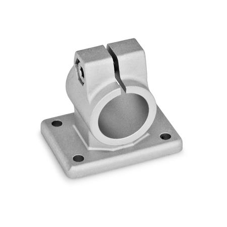 GN 146 Flanged connector clamps, Steel Finish: BL - blank
