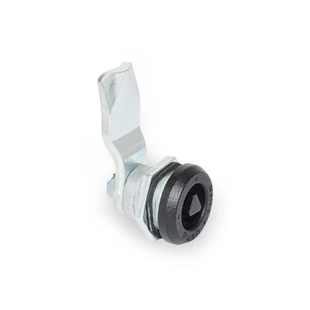 GN 115.9 Verriegelungen mit Sicherheitsfunktion, mit Steckschlüssel, nicht abschließbar Form: DK - Betätigung mit Dreikant (DK7)