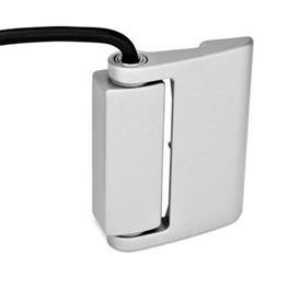 GN 139.1 Sicherheits-Schaltscharniere mit Anschlusskabel Form: AK - Anschlusskabel oben