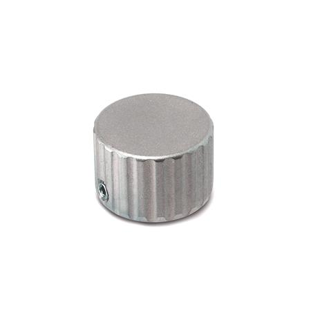 GN 436 Control knobs, Stainless Steel Type: N - without indicator point