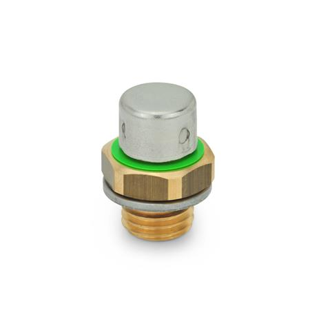GN 883 Breather valves Type: B - high design, with Stainless Steel cap