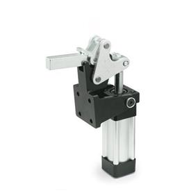 GN 863 Toggle clamps, pneumatic, heavy duty, with magnetic piston