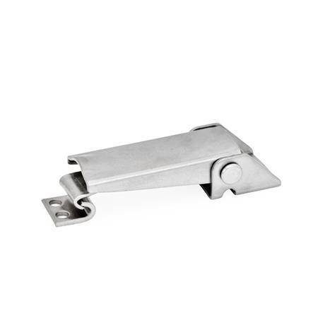 GN 831 Spannverschlüsse, Stahl, Edelstahl Werkstoff: NI - Edelstahl Form: A - ohne Sicherung Kennziffer: 1 - lange Ausführung