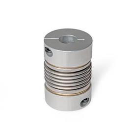 GN 2244 Bellows couplings with clamping hub