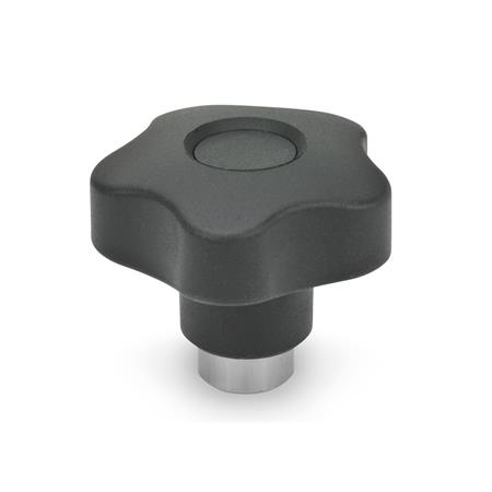 GN 5337.3 Safety star knobs, Plastic Material: NI - Stainless Steel