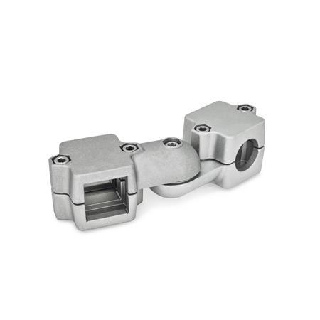 GN 289 Noix de serrage articulées, pièces de serrage en deux parties Finition: BL - blanc, finition grenaillée mate