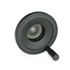 GN 323.9 Levykäsipyörät asennonilmaisimille Tyyppi: R - pyörivällä kahvalla