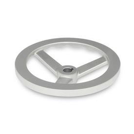 GN 949 Edelstahl-Handräder Bohrungskennzeichnung: K - mit Nabennut<br />Form: A - ohne Griff