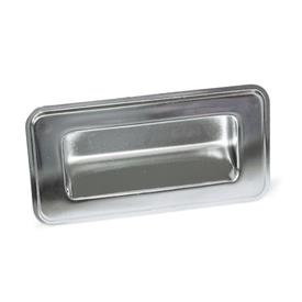 GN 7332 Stainless Steel-Gripping trays, screw-in type Type: C - Mounting from the back<br />Identification no.: 2 - with seal, black<br />Finish: EP - electropolished