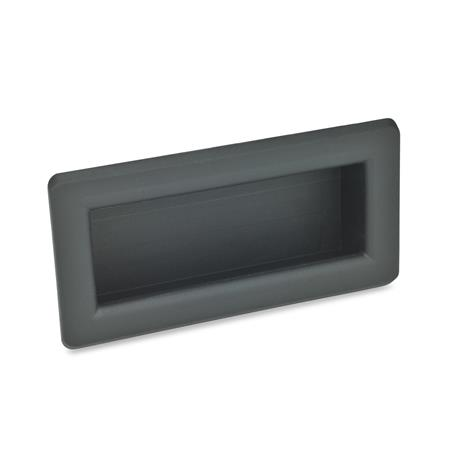 GN 739.1 Gripping trays, clip-in type, Plastic Color: SG - black-gray, RAL 7021, matte