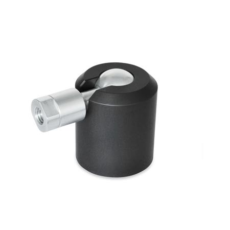 GN 784 Swivel Ball Joints, Aluminum Type: A - Ball with internal thread Identification No.: 2 - Clamping with set screw