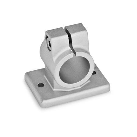 GN 146.3 Flanged connector clamps, Aluminium Finish: BL - blank